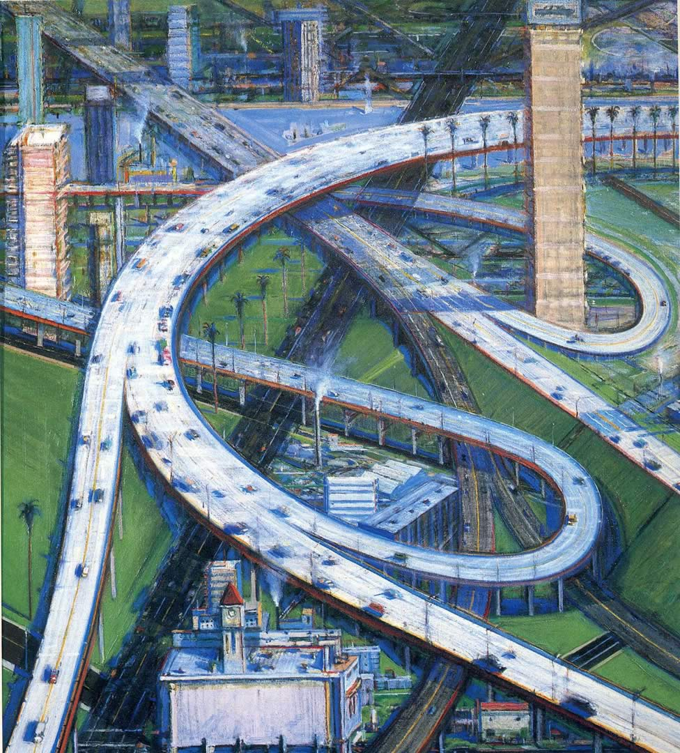 Wayne Thiebaud,  Freeway from the Air . N.D.