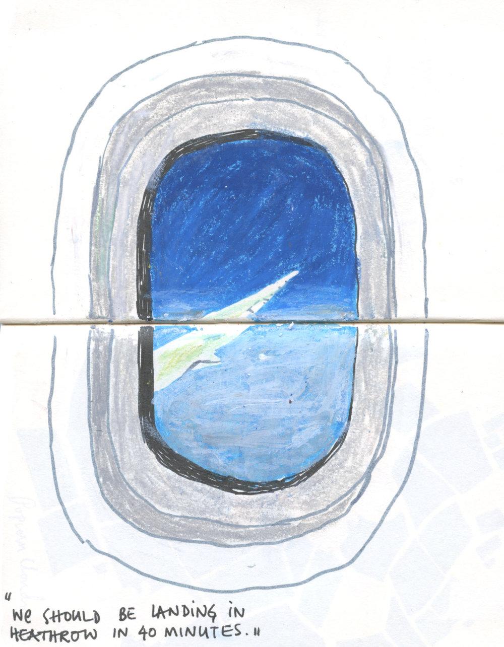 Shreyas R Krishnan,  Airplane Window, BWI-LHR,  from  Transit II,  2015.