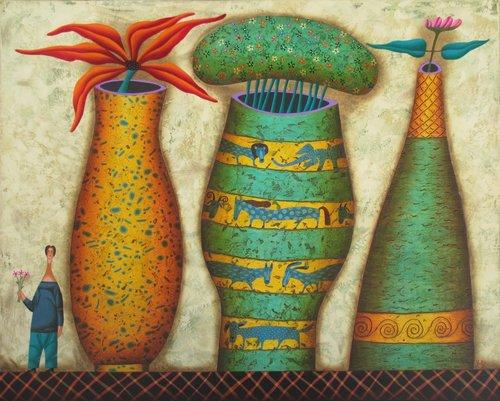 Yuri Kuznetsov Mixed Media on Canvas Starting at $1,200
