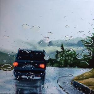 Brigitte Yoshiko Pruchnow Acrylic on Canvas Starting at $1,250