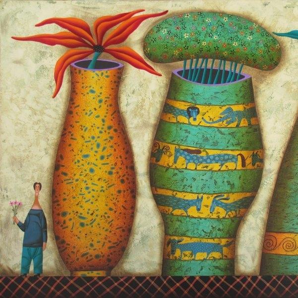 Yuri Kuznetsov Mixed Media on Canvas $2,900.00
