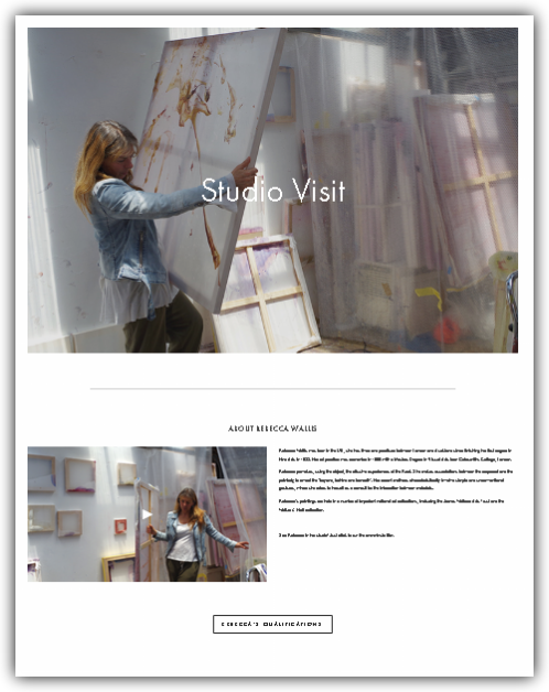 See for Yourself - See the online and offline experience we created with Rebecca Wallis (click here). We think it's head and shoulders above other online galleries, and our pledge is to build that experience for you.
