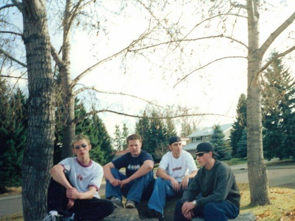 Rhymes With Enis in the most 90's looking photo ever. Yours truly on the far right.