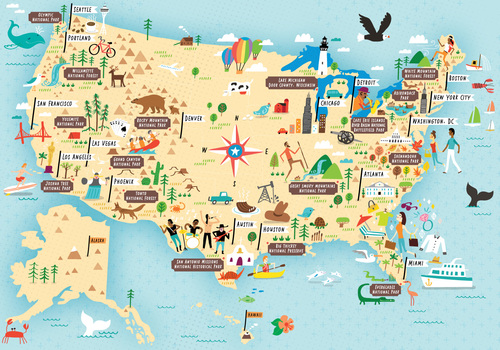 I Draw Maps - National parks in us map