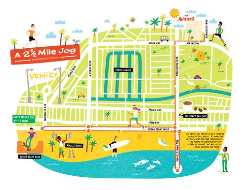 I Draw Maps - Venice beach florida map
