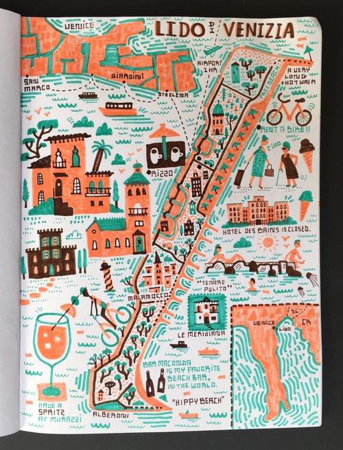 I Draw Maps - Venice beach map