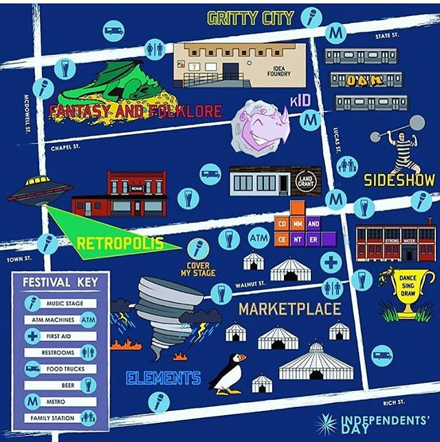 Here's a map for all your festival fun! Find us in the Marketplace under the @columbushandmade tent! #id16 #columbushandmade #ambiguousyou