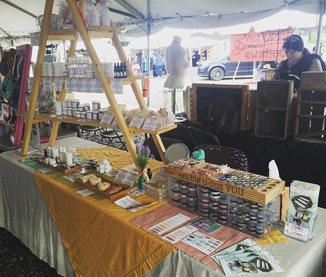 We are all set and ready for this years Independent's Day Festival under the @columbushandmade tent! Vending is open from 11-9pm today and 11-6 tomorrow! Lots of stuff to see, do, drink, and eat! #id16 #columbushandmade #ambiguousyou