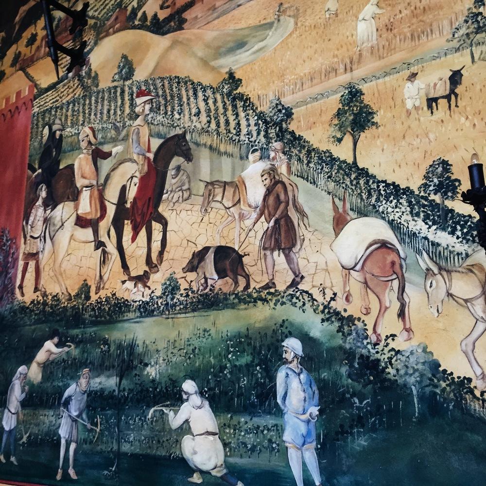 Frescas. Castello Di Amorosa. Napa Valley.