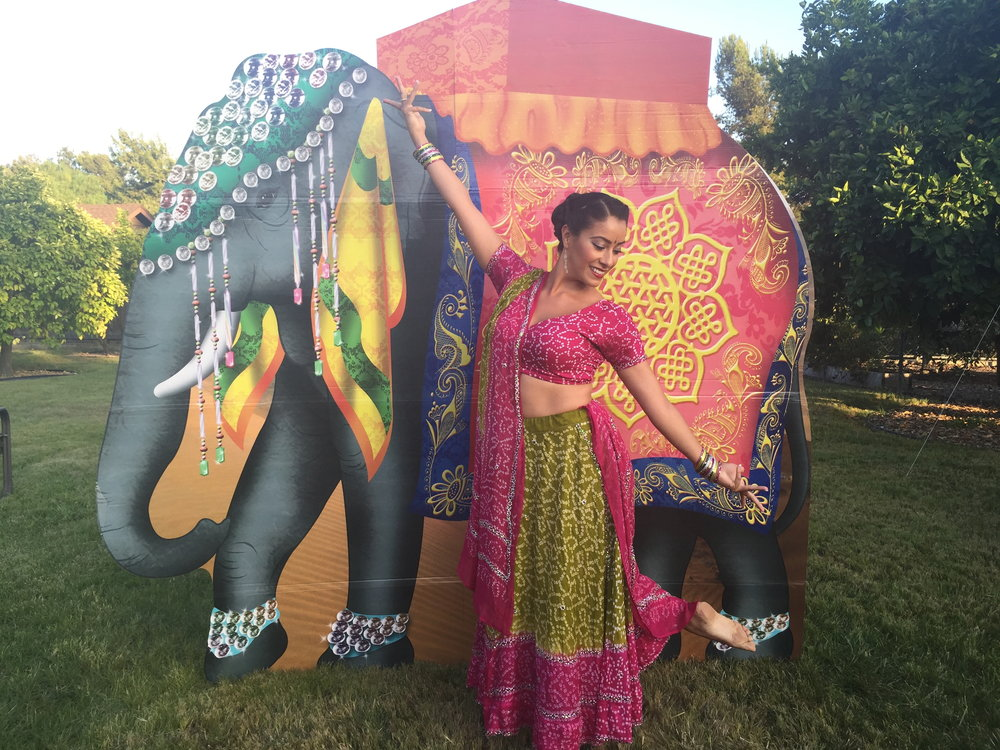 Bollywood Pose with fake Elephant.jpg