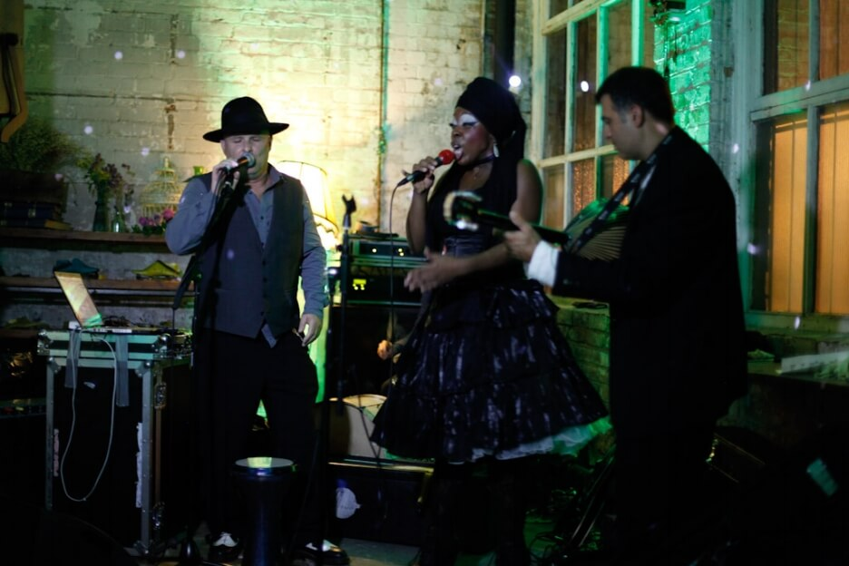 Quirky Venue, Non-traditional wedding planner, London Wedding coordination, Bespoke weddings, Warehouse wedding, Informal, Edgy wedding performers