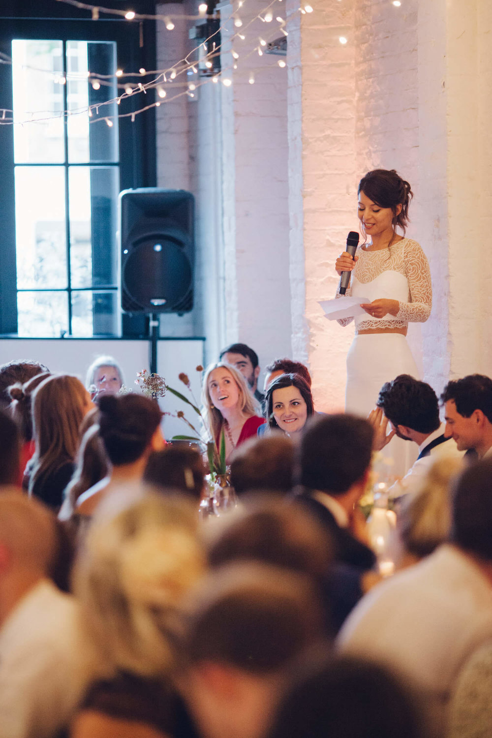 Wedding speech, Quirky Venue, Non-traditional wedding planner, London Wedding coordination, Bespoke weddings, Brixton Wedding, Informal,