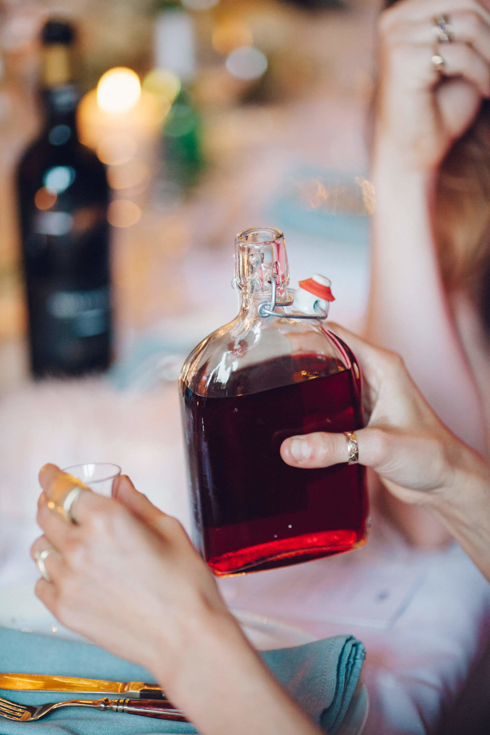 Homemade sloe gin, Quirky Venue, Non-traditional wedding planner, London Wedding coordination, Bespoke weddings, Brixton Wedding, Informal,