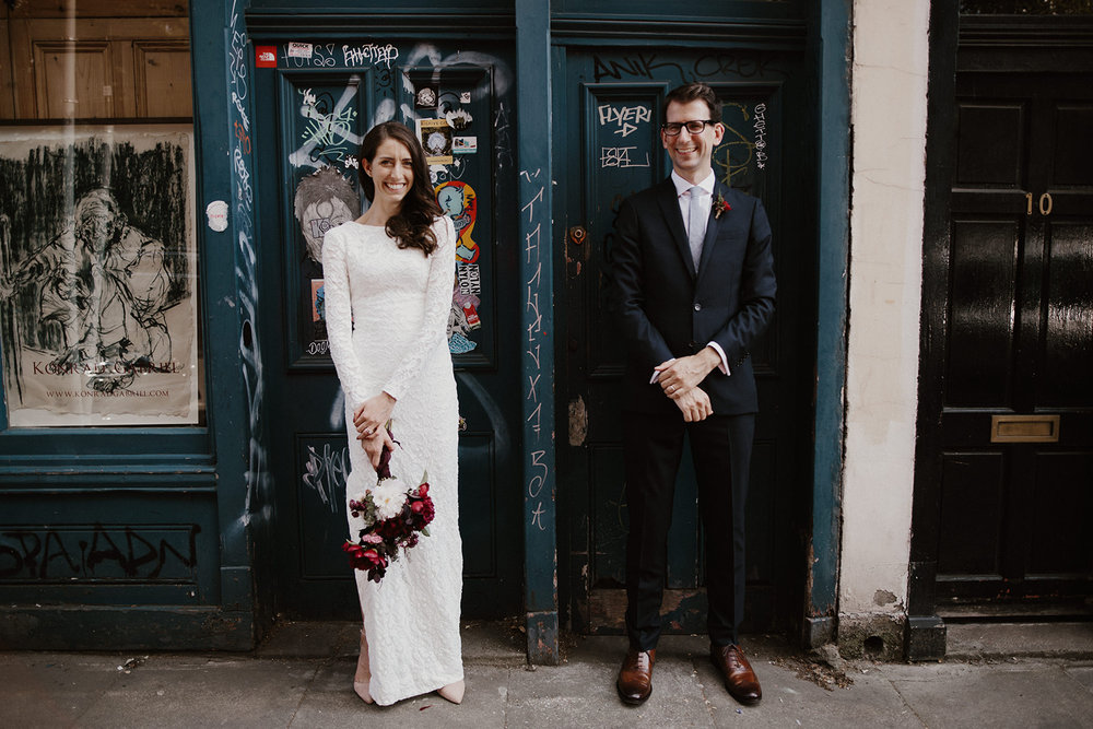 Non-traditional Wedding Planner, London Wedding Coordination, Bespoke Weddings, Shoreditch Wedding, Informal, Stylish Wedding, London Wedding, Sara Lincoln Pictures