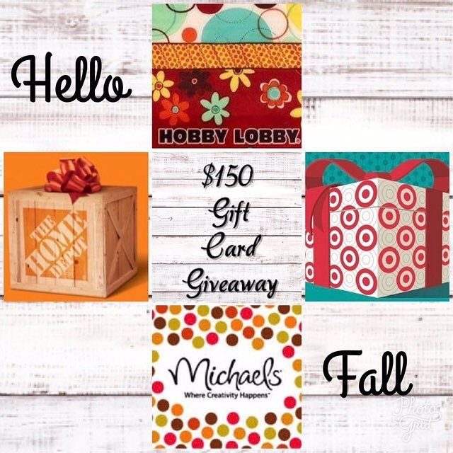 GO TO ----  @therusticcoop  Hi, Friends! I've teamed up with some amazing Instagram ladies & gentlemen & we are super excited to bring you a Hello Fall 🍁 $150 Gift Card Giveaway of your choice to Hobby Lobby, Home Depot, Michaels, Target or cash 💰 value 😍🙌🏼🌞 🍁 Entering is simple: 1️⃣like this photo 2️⃣FOLLOW ME  3️⃣go to @therusticcoop do the same.  Be sure to follow everyone in the loop, YES we check 😉 4️⃣for an extra entry tag a couple friends who you think maybe interested 🌞  Giveaway will run 9/14 9:00 PM EST until 9/17 8:00 PM EST winner will be announced within 24 hours. PRIVATE ACCOUNTS MUST STAY PUBLIC FOR DURATION OF GIVEAWAY. Giveaway is not sponsored, endorsed or affiliated with Instagram, Inc, Hobby Lobby, Home Depot, Michaels or Target . By entering, you agree to confirm that you are 18+ years of age, shall adhere to all Instagram's terms of use. VOID WHERE PROHIBITED BY LAW. NO PURCHASE NECESSARY TO ENTER. Good luck! 🍁