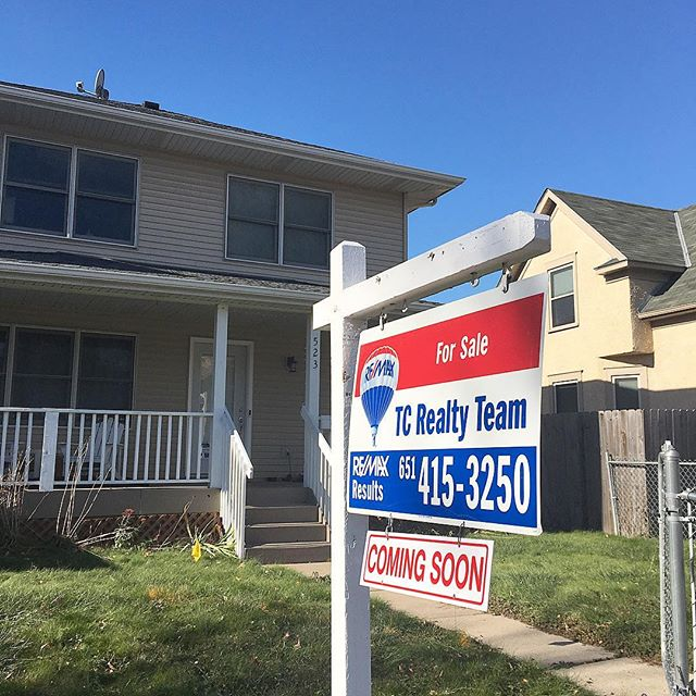 This just happened!! Nothing like a FOR SALE sign in your front yard to get you motivated to finish up those last few home projects! #homeforsale #minneapolis #tcrealtyteam