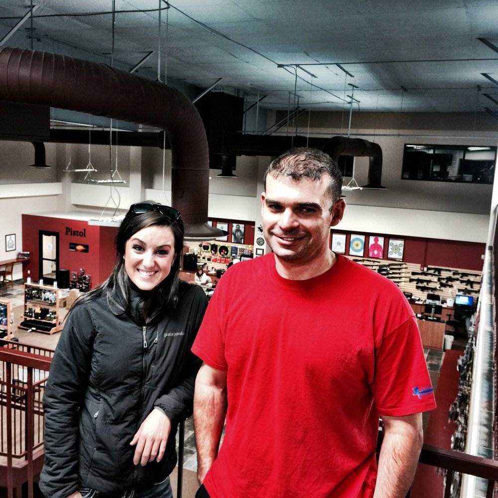 Olympic hopeful Amber English and 3x Olympian  Keith Sanderson.  THANK YOU!