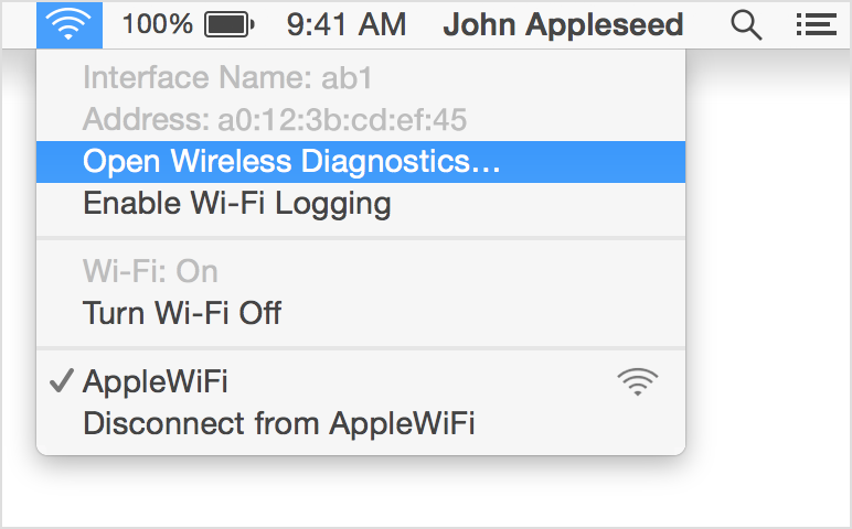 strong>Use macOS Wireless Diagnostics to help you diagnose Wi-Fi
