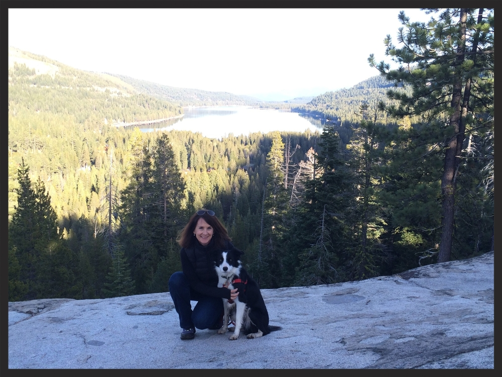 Holly and Diesel high above Donner Lake