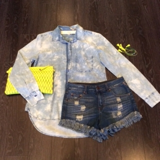 The Perfect TieDye Denim Shity