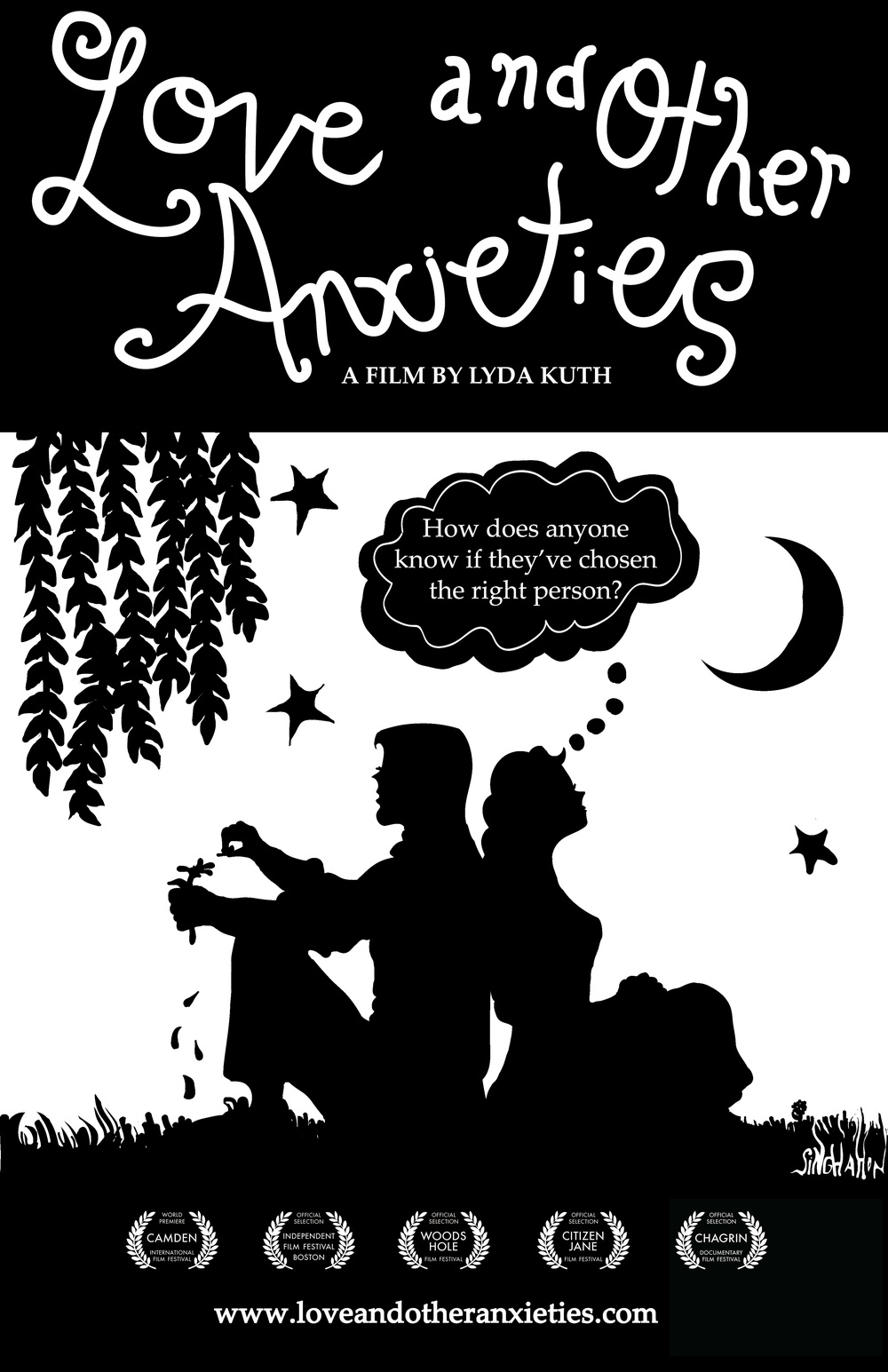 Love and Other Anxieties   Theatrical Release Poster   Designed by Singha Hon for Lyda Kuth, Nadita Productions   2011-2012