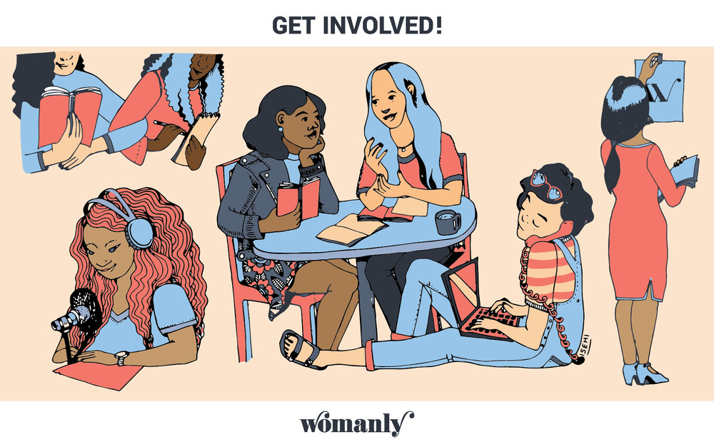 Illustration for Get Involved Campaign, for Womanly Magazine  2017-2018