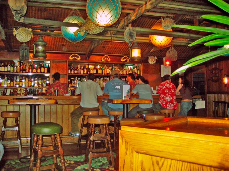 Typical Trader Vic's interior