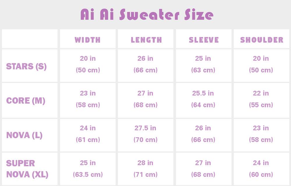 Ai Ai sweater size_morigalaxy