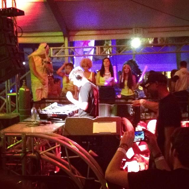 On stage rockin' to @MartinGarrix at @NikkiBeachMiami last night #WMC2014 #Djchristianb #Southbeach
