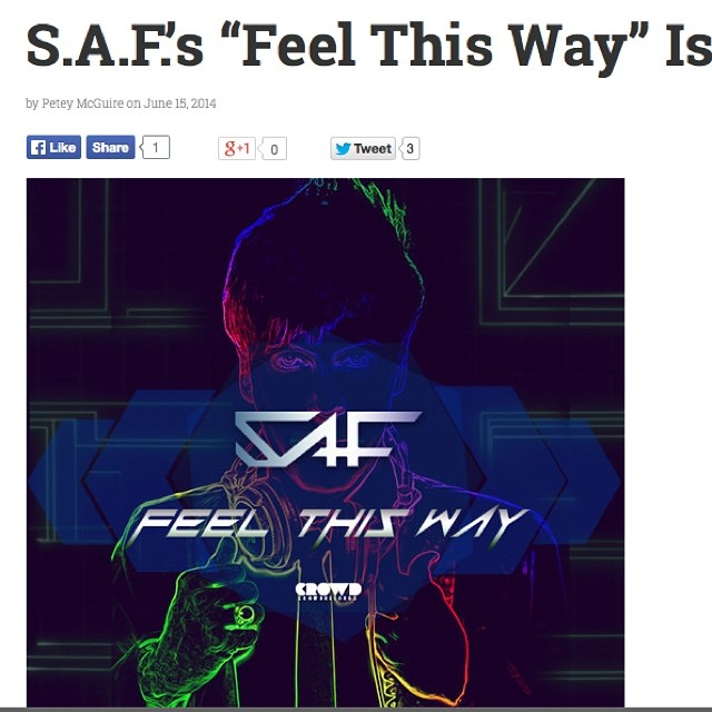 Big thanks YourEDM for the luv on my new track! #FeelThisWay http://www.youredm.com/2014/06/15/s-f-s-feel-way-work-art/ …#progressivehouselovers #Music