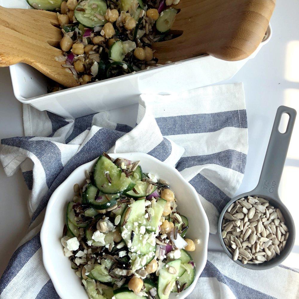 Cucumber Wild Rice Salad
