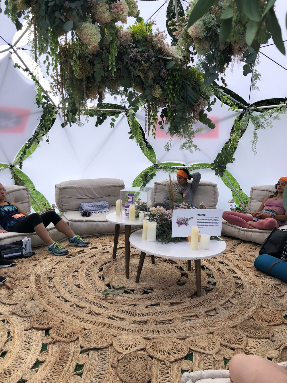 Swisse's Meditation room at Wanderlust 108.