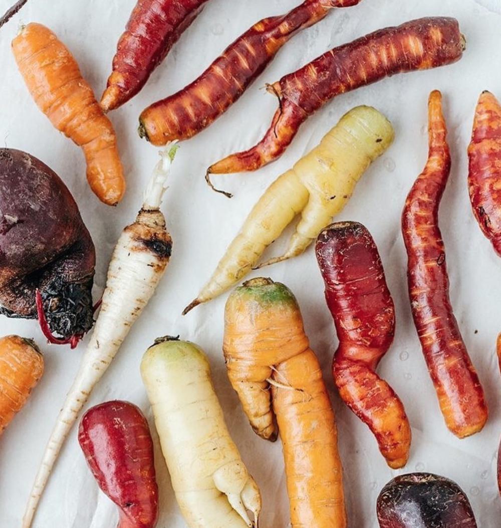 Vegan potato soup made with Misfit's Market ugly produce
