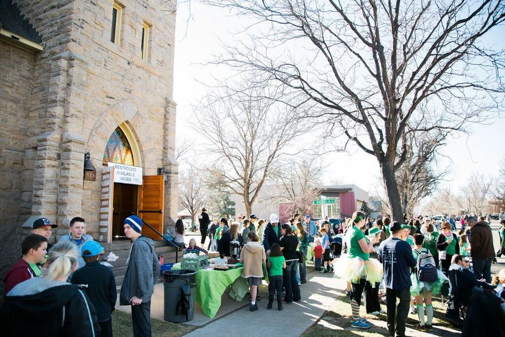 Opening our building during the annual St. Patrick's Day parade for restrooms and serving treats and warm drinks to those watching the parade.