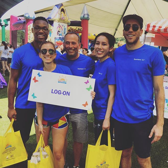 Happy Monday! Yesterday the LOG-ON team participated in a very special event. #sunrisewalks @sunrisedaycamp_li threw an unforgettable #event right on #campgrounds. We #walked so they could #soar!  #wideformatprinting #eventsponsor #donations #fundraising #nonprofit #camplove #childhood #NYC #LOGON