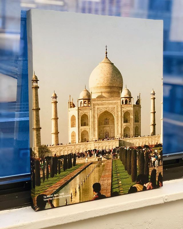 Traveling anywhere for Thanksgiving? We sure want to after seeing this canvas print of the Taj Mahal! Let us print your next canvas (and custom build the frame) for the office or your next event! #lifeatLogOn