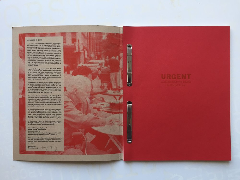 Book made by students at the Letterpress and Book Arts Center at Ringling College of Art and Design, Sarasota, FL