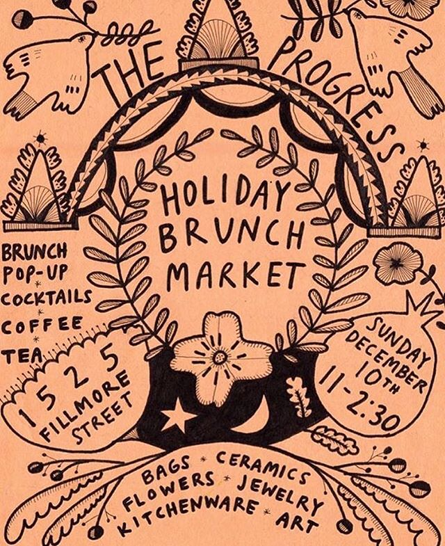 Looking forward to the annual Holiday Brunch Market at @theprogress_sf this Sunday . . Come say 👋🏽 and hang out with us.  There will be delicious 🥘 and 🍹. . . #holidaypopup #brunch  #statebirdprovisions #theprogresssf #kambujatrading