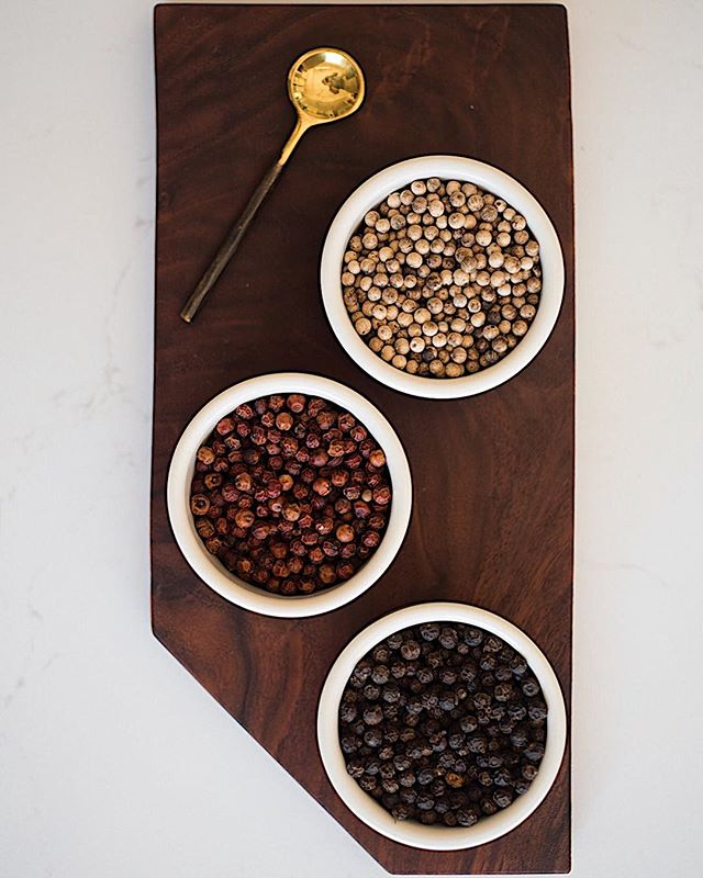 Spice up your holidays with Kampot peppercorns.  These organic peppercorns come in 3 colors and all yields unique robust flavors. . . . #kampotpepper #kampot #organic #bestpepperintheworld #flavorful #aromatic #kambujatrading