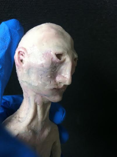 finished and painted puppet using silicone 10 and psycho paint