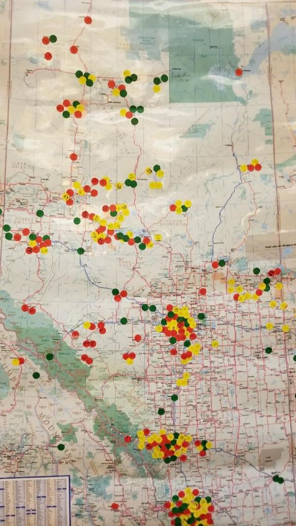 - Personalized dots were used to identify where each person was from and where they were connected on a large map of Alberta,creating potential working groups
