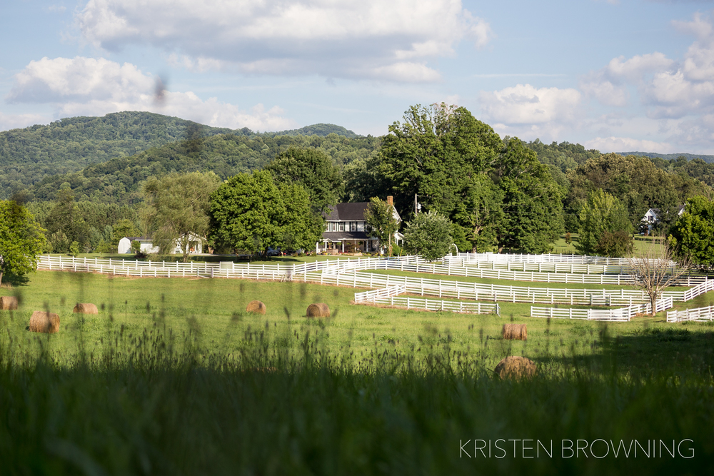 This is one of our favorite views, it was taken from the back of the pasture gazing down upon the Farm House.