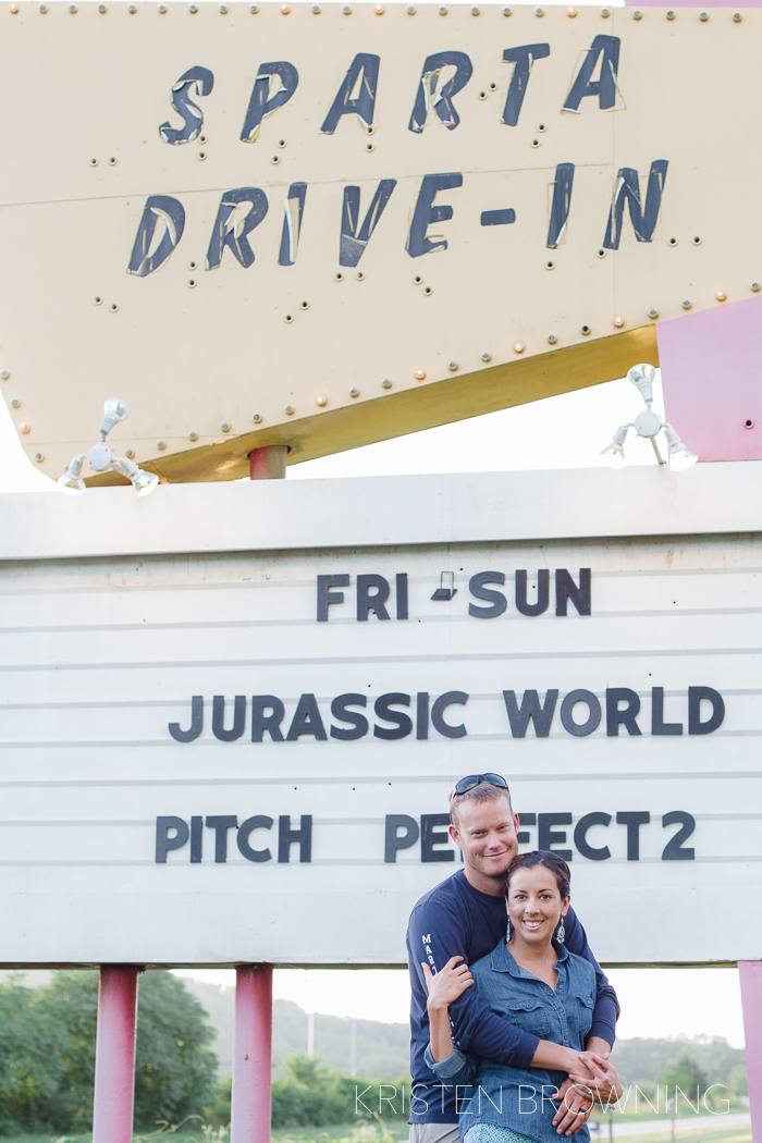 Here is a photo from our trip to Tennessee where we went to an actual drive in movie!! It was amazing!
