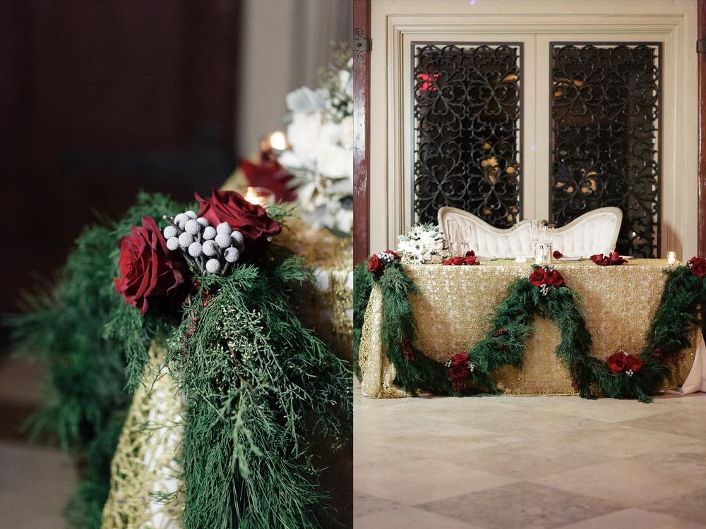 red-and-green-pine-garland-winter-wedding-the-addison-boca-raton