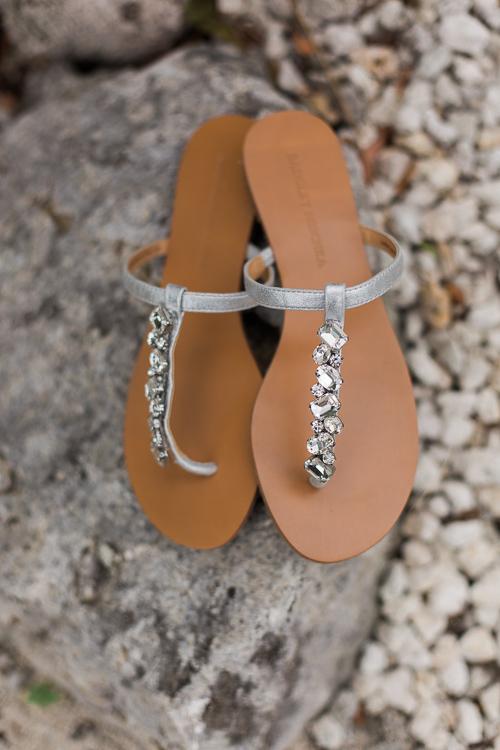 Bride's sandals Coconut Palm Inn in Tavernier, Fl