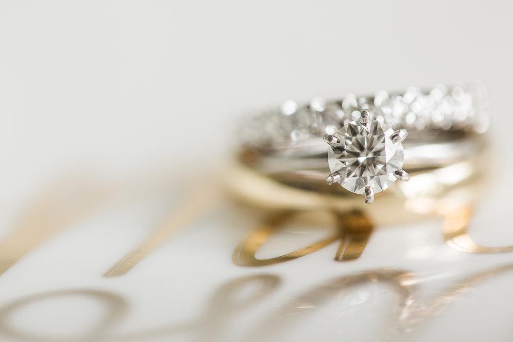 Simple, elegant round diamond solitaire ring