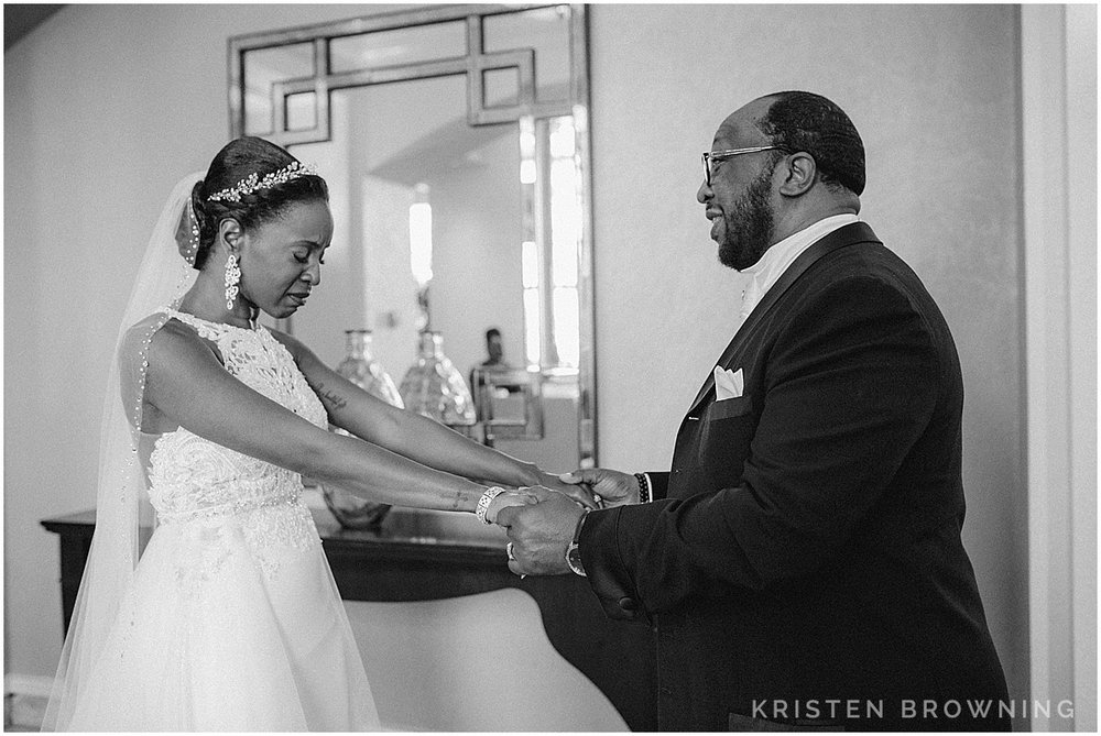 This moment right here. On a wedding day you must be ready to photograph on a moment's notice or you will miss it.