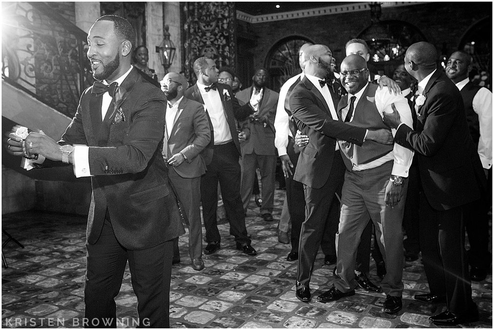 They made Derby's father get out there to catch the garter!