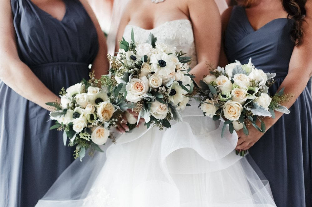 Winter inspired bouquet by Daniel Events at Boca Raton Resort