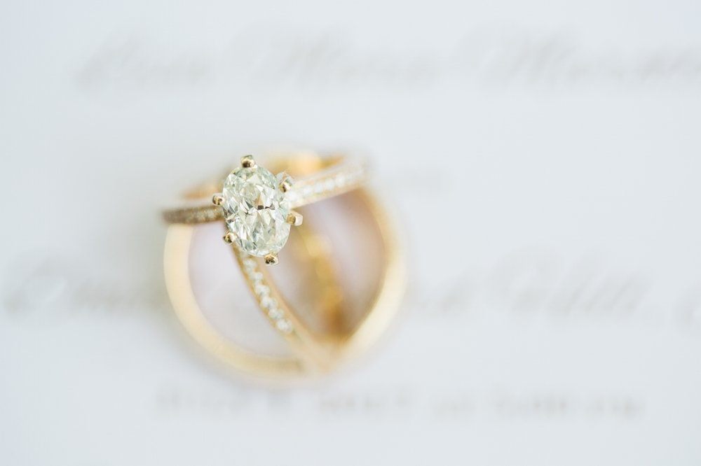 oval shaped diamond ring gold band at River Palms Cottages in Jensen Beach, Fl